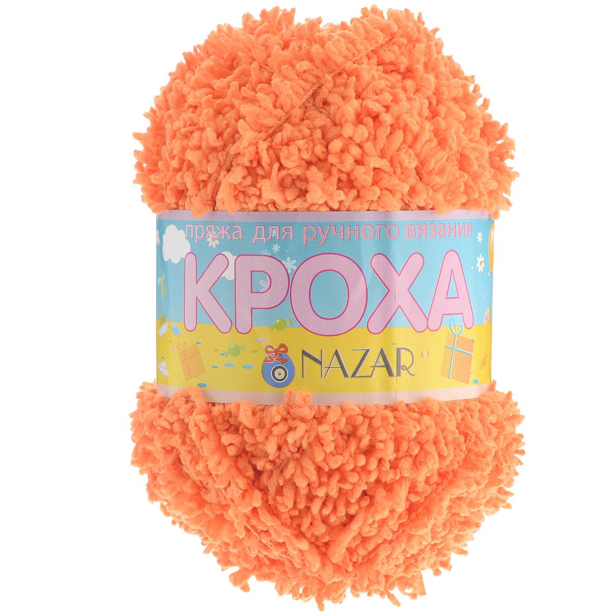 Пряжа для вязания детская Nazar Кроха, цвет: оранжевый (2669), 75 м, 50 г, 10 шт349017_2669Nazar Кроха - это фантастически мягкая пряжа, изготовленная из 100% микрополиэстера. Такая пряжа идеально подойдет для изготовления игрушек или детской одежды. Изделия практичны в носке и уходе. Рекомендуется вязать спицами платочной или чулочной вязкой (кулинарная гладь). Комплектация: 10 мотков. Состав: 100% микрополиэстер.