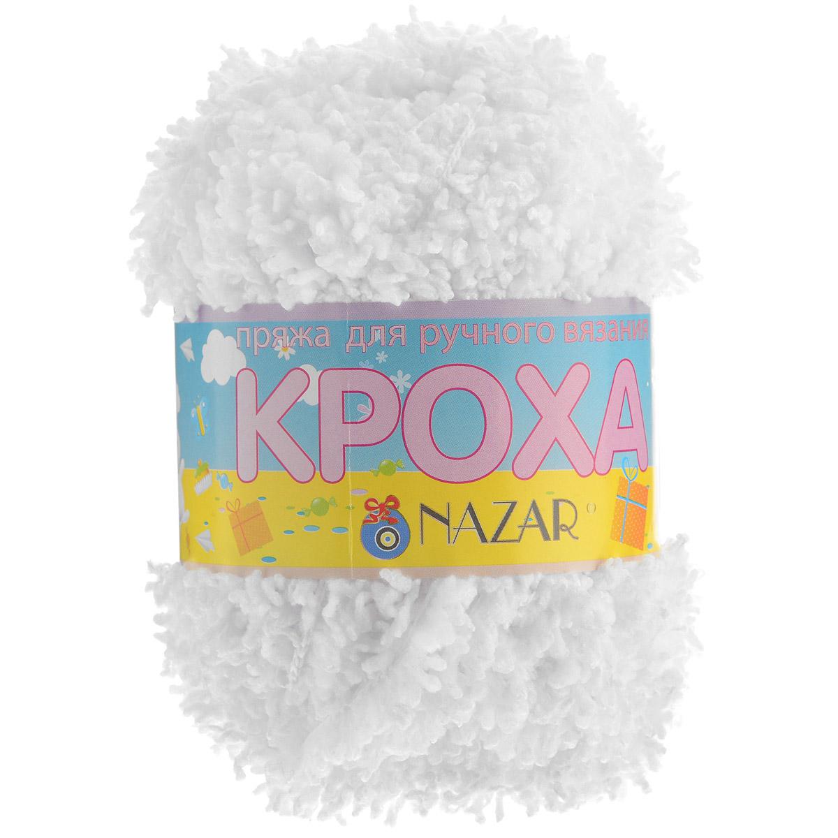 Пряжа для вязания детская Nazar Кроха, цвет: белый (6007), 75 м, 50 г, 10 шт349017_6007Nazar Кроха - это фантастически мягкая пряжа, изготовленная из 100% микрополиэстера. Такая пряжа идеально подойдет для изготовления игрушек или детской одежды. Изделия практичны в носке и уходе. Рекомендуется вязать спицами платочной или чулочной вязкой (кулинарная гладь). Комплектация: 10 мотков. Состав: 100% микрополиэстер.