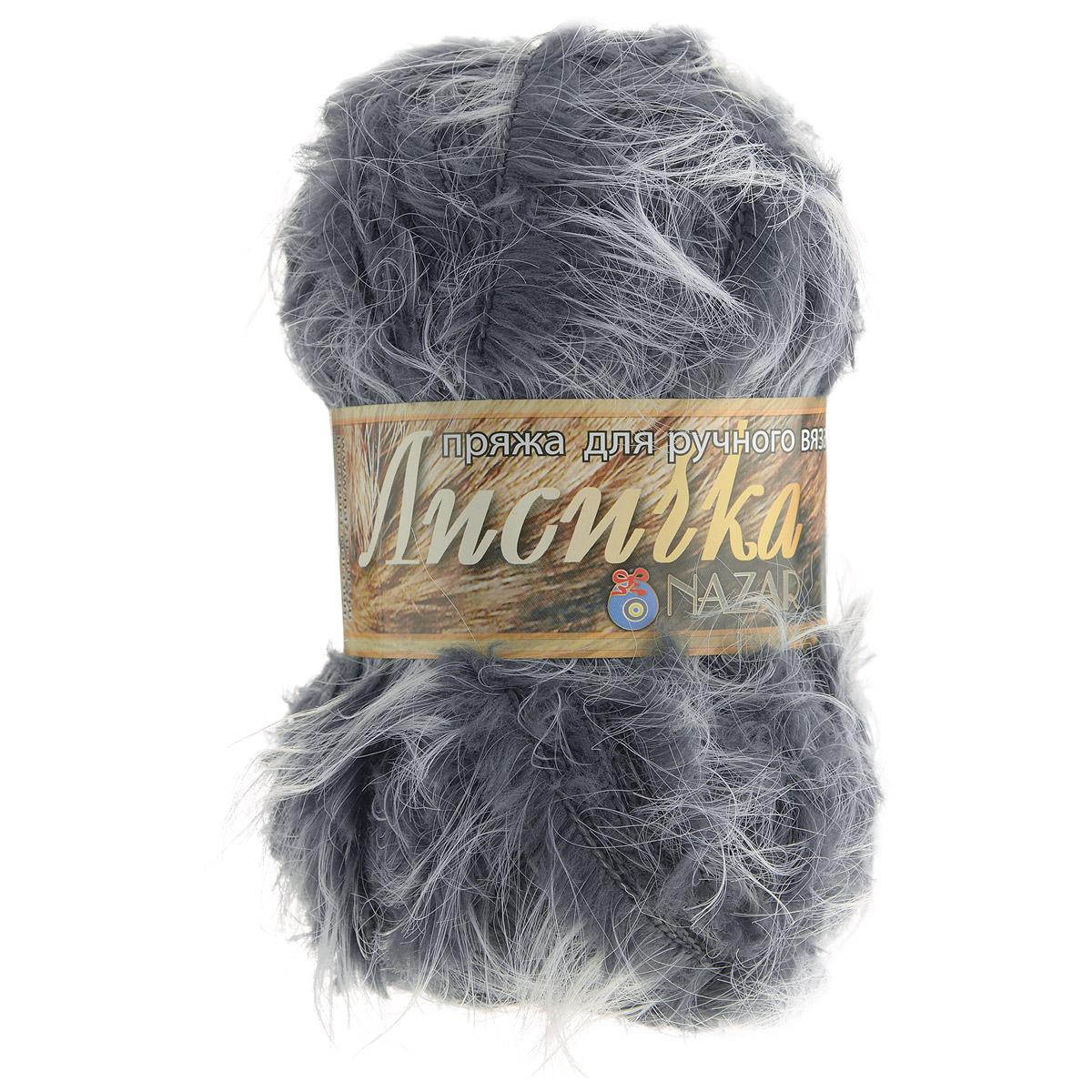 Пряжа для вязания Nazar Лисичка, цвет: серый (004), 100 г, 90 м, 5 шт688122_004