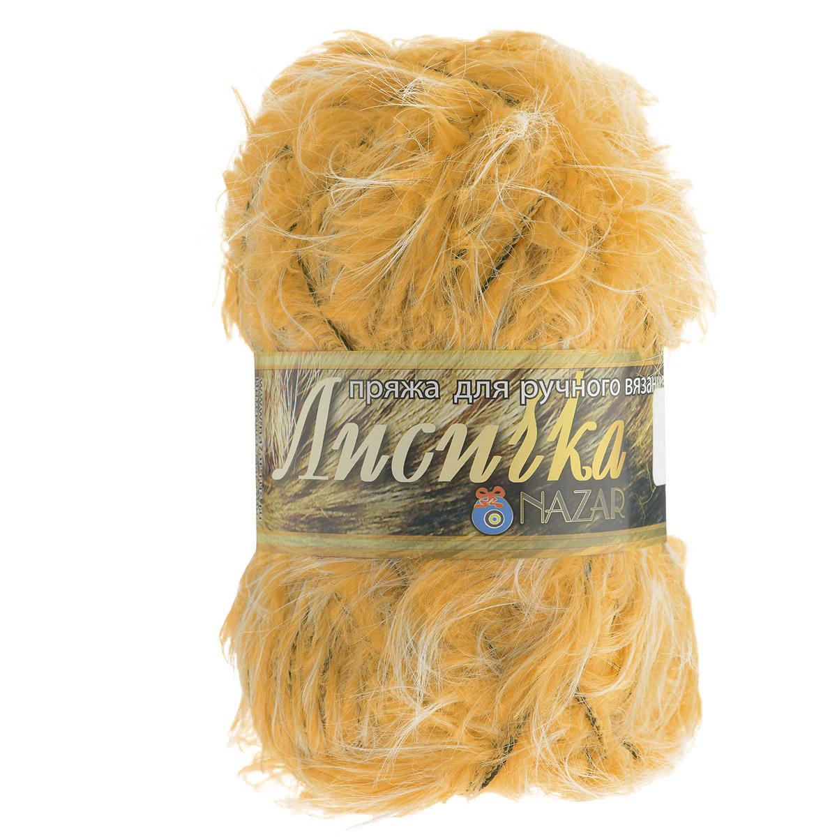 Пряжа для вязания Nazar Лисичка, цвет: желтый (010), 100 г, 90 м, 5 шт688122_010
