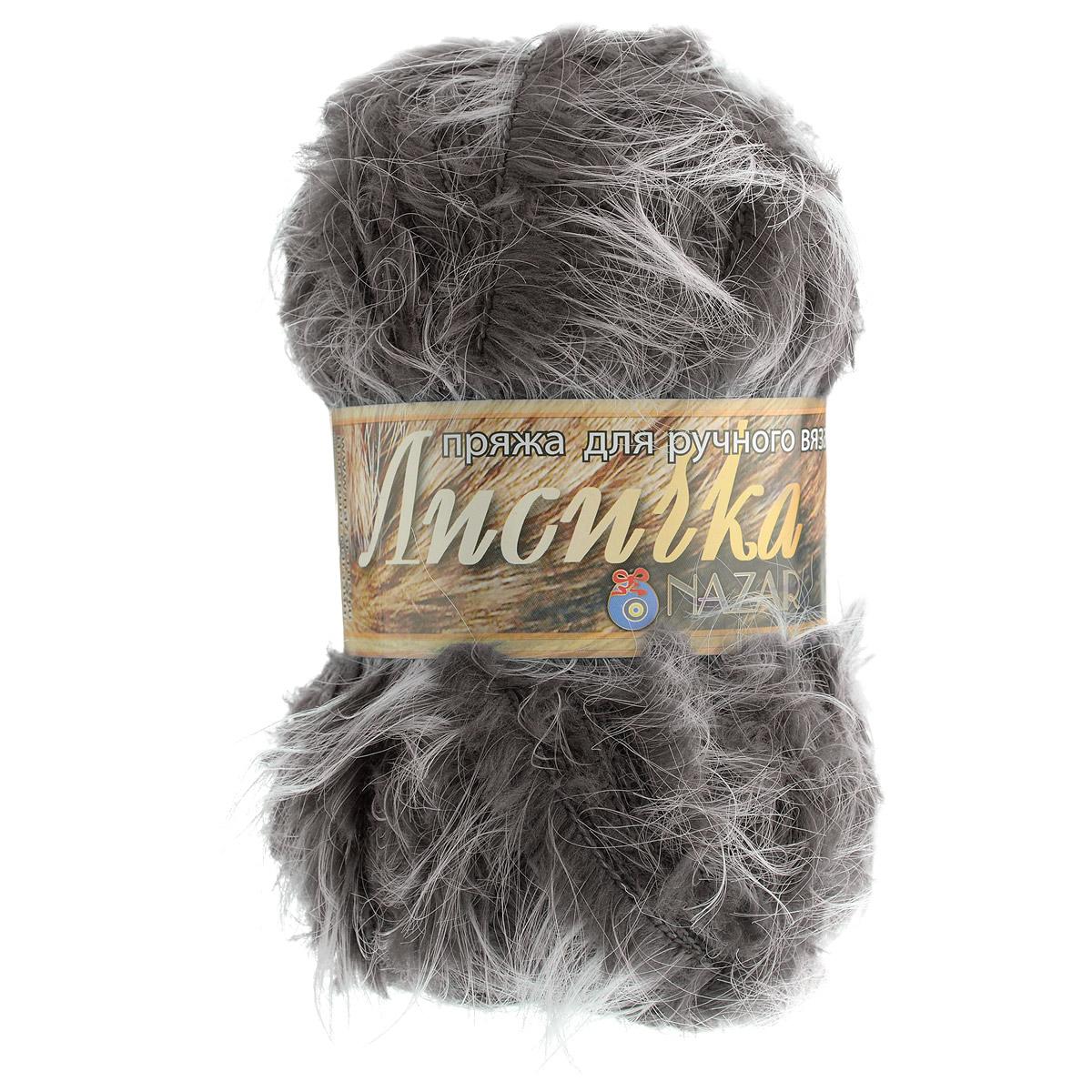 Пряжа для вязания Nazar Лисичка, цвет: коричневый (001), 100 г, 90 м, 5 шт688122_001