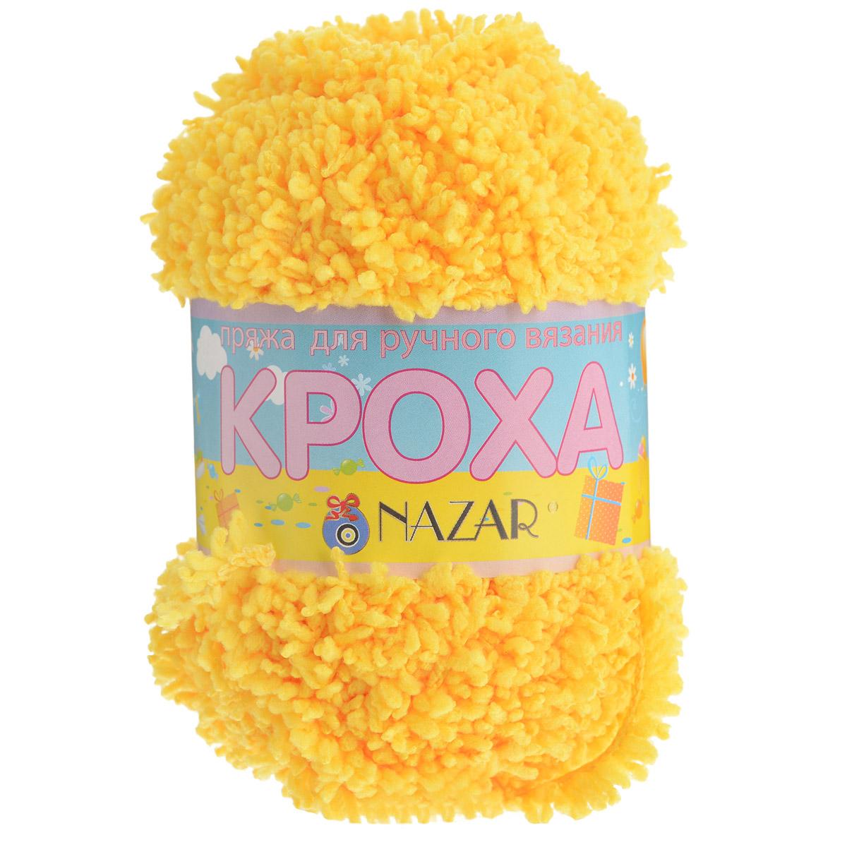 Пряжа для вязания детская Nazar Кроха, цвет: ярко-желтый (518), 75 м, 50 г, 10 шт349017_518Nazar Кроха - это фантастически мягкая пряжа, изготовленная из 100% микрополиэстера. Такая пряжа идеально подойдет для изготовления игрушек или детской одежды. Изделия практичны в носке и уходе. Рекомендуется вязать спицами платочной или чулочной вязкой (кулинарная гладь). Комплектация: 10 мотков. Состав: 100% микрополиэстер.