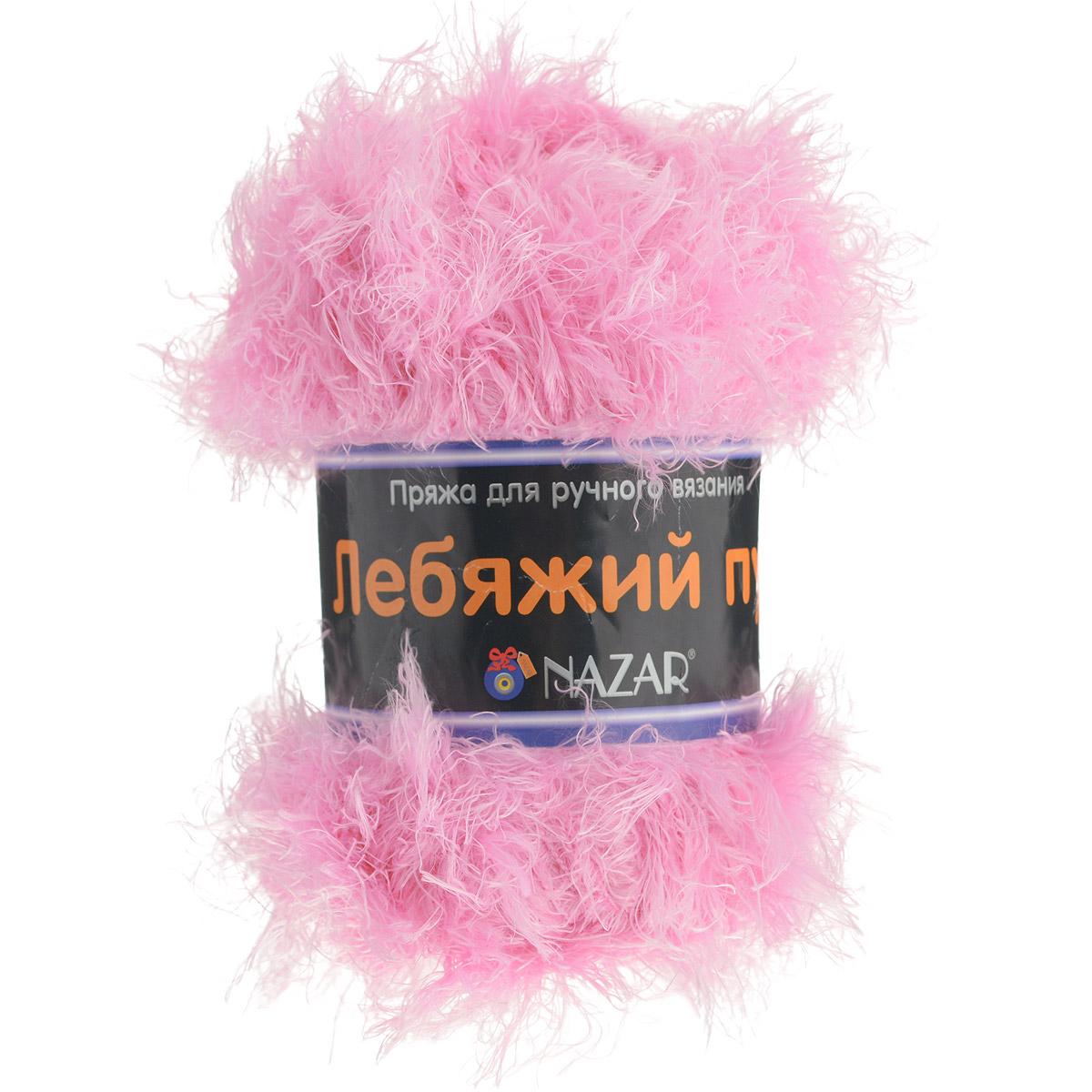Пряжа для вязания Nazar Лебяжий пух, цвет: розовый (2692), 100 г, 170 м, 5 шт349020_2692