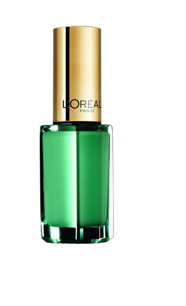 """L'Oreal Paris Лак для ногтей """"Color Riche"""", оттенок 849, Изумрудно-зеленый, 5 мл"""