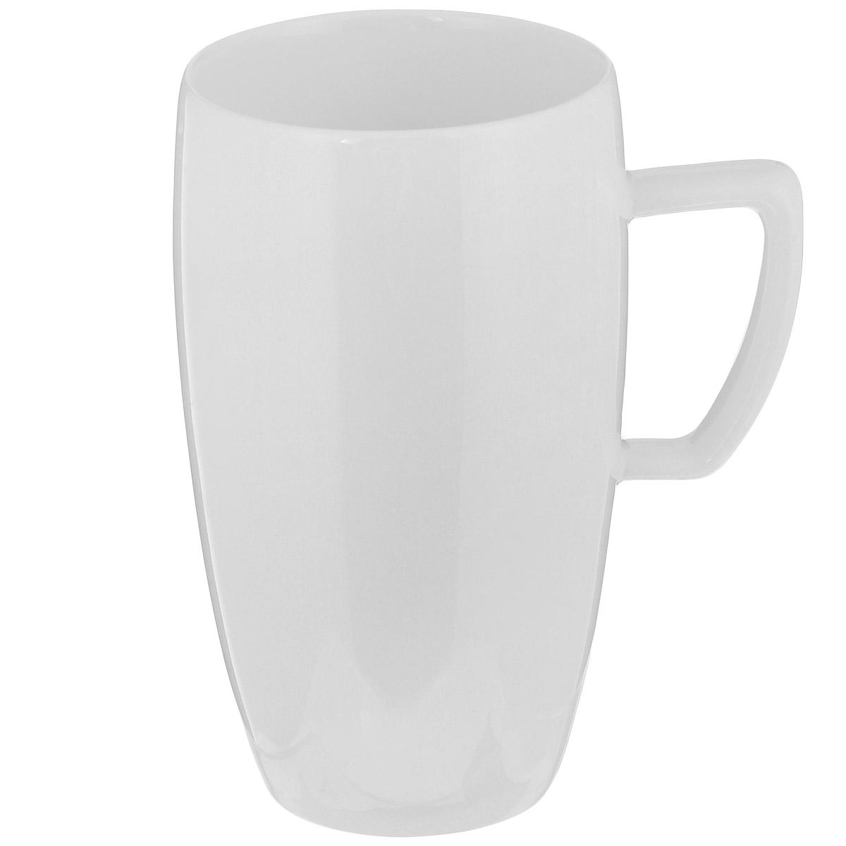 Чашка для кофе латте Tescoma Crema, 500 мл387136Чашка Tescoma Crema выполнена из высококачественного фарфора однотонного цвета и прекрасно подойдет для вашей кухни. Чашка изысканно украсит сервировку как обеденного, так и праздничного стола. Предназначена подачи кофе латте. Пригодна для использования в микроволновой печи. Можно мыть в посудомоечной машине. Диаметр по верхнему краю: 8 см. Высота: 14 см. Объем: 500 мл.