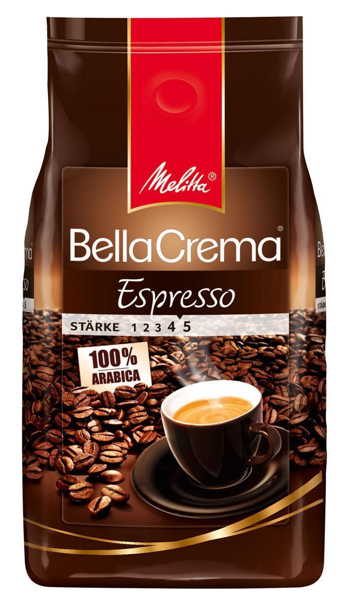 Melitta Bella Crema Espresso кофе в зернах, 1 кг01830Кофе натуральный, жареный, в зернах Melitta Bella Crema Espresso. Классический крепкий кофе для эспрессо. Высокая прожарка. Кофейная композиция была разработана специально для приготовления классического эспрессо с крепостью самого изысканного кофе. В аромате присутствует легкий перечный вкус. Предназначен для приготовления кофе в кофеварках и кофемашинах. Эспрессо из этого вида кофе удачно сочетается с шоколадом, корицей, ванилью.