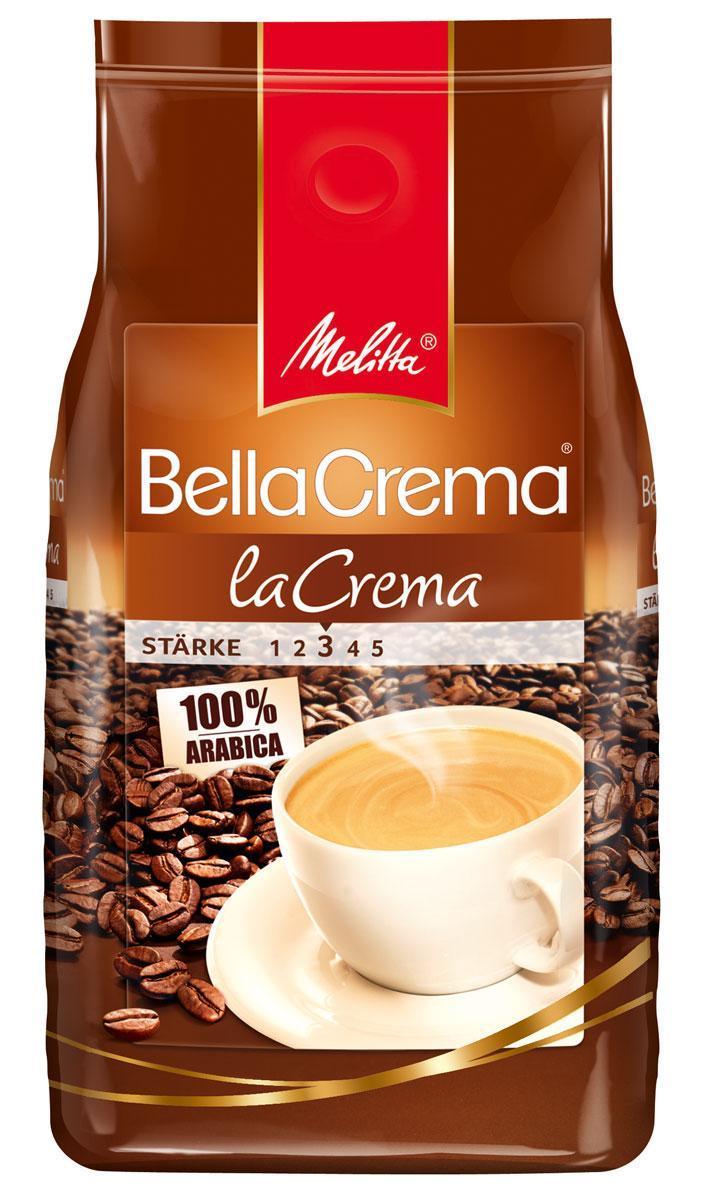 Melitta Bella Crema La Crema кофе в зернах, 1 кг01810Мягкий, ароматный кофе Melitta Bella Crema La Crema для приготовления большой чашки с ароматной пенкой, чтобы Вы могли насладиться кремовым вкусом натурального кофе. Предназначен для приготовления кофе в кофеварках и кофемашинах. Идеально сочетается с десертами, сорбетом, сладкими пирожными.