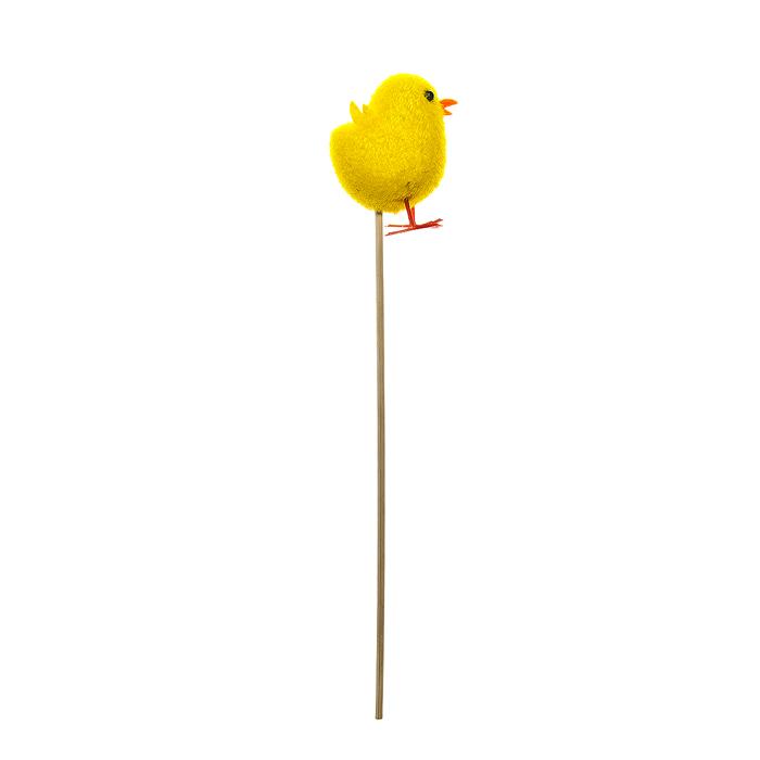Декоративное пасхальное украшение на ножке Home Queen Цыпленок, высота 25 см. 6438564385Украшение пасхальное Home Queen Цыпленок изготовлено из пенопласта и полиэстера и предназначено для украшения праздничного стола. Украшение выполнено в виде забавного цыпленка на деревянной шпажке. Такое украшение прекрасно дополнит подарок для друзей и близких на Пасху. Высота: 25 см. Размер декоративной фигурки: 4 см х 3 см х 5,5 см.