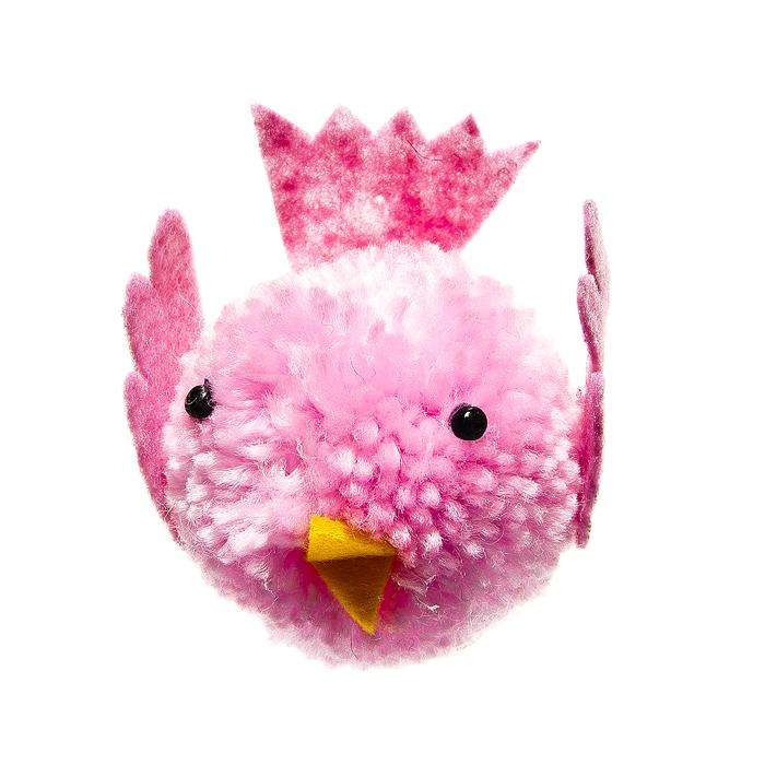 Декоративное подвесное украшение Home Queen Птенчик, цвет: розовый64420Подвесное украшение Home Queen Птенчик изготовлено из пенопласта и шерсти и выполнено в виде забавного птенца. Изделие оснащено петелькой для подвешивания. Такое украшение прекрасно оформит интерьер дома или станет замечательным подарком для друзей и близких на Пасху. Размер украшения: 6 см х 4 см х 6 см.