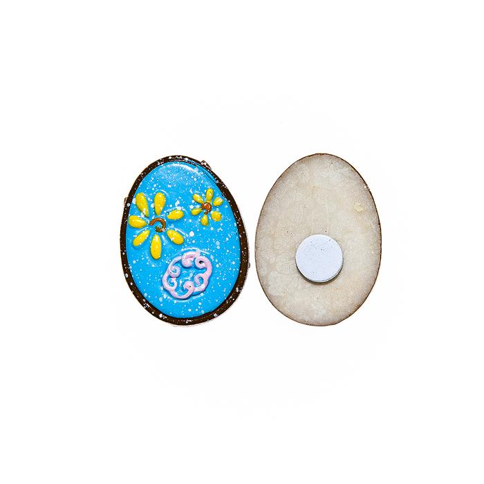 Набор декоративных украшений для яиц Home Queen Праздник, на клейкой основе, цвет: голубой, 6 шт64504Набор Home Queen Праздник состоит из шести декоративных элементов и предназначен для украшения яиц, посуды, стекла, керамики, металла, цветочных горшков, ваз и других предметов интерьера. Украшения изготовлены из высококачественной полирезины в виде яиц и фиксируются при помощи специальной клейкой основы. Такой набор украшений создаст атмосферу праздника в вашем доме. Размер фигурки: 3 см х 0,5 см х 2,2 см.