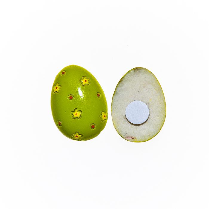 Набор декоративных украшений для яиц Home Queen Весенний мотив, на клейкой основе, цвет; зеленый, 10 шт64511Набор Home Queen Весенний мотив состоит из 10 декоративных элементов и предназначен для украшения яиц, посуды, стекла, керамики, металла, цветочных горшков, ваз и других предметов интерьера. Украшения изготовлены из высококачественной полирезины в виде пасхальных яиц, декорированных цветочным рисунком, и фиксируются при помощи специальной клейкой основы. Такой набор украшений создаст атмосферу праздника в вашем доме. Размер фигурки: 2 см х 0,4 см х 2,5 см.