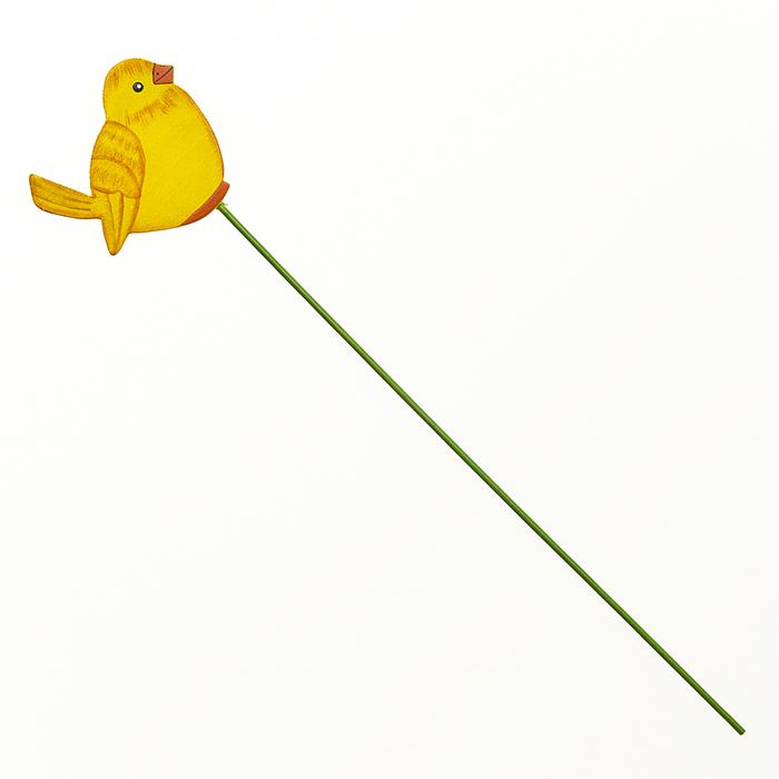 Декоративное пасхальное украшение на ножке Home Queen Птичка, цвет: желтый, высота 30 см. 6675966759Украшение пасхальное Home Queen Птичка изготовлено из дерева и предназначено для украшения праздничного стола. Украшение выполнено в виде птицы на деревянной шпажке. Такое украшение прекрасно дополнит подарок для друзей и близких на Пасху. Высота: 30 см. Размер декоративной фигурки: 6,5 см х 0,5 см х 6 см.