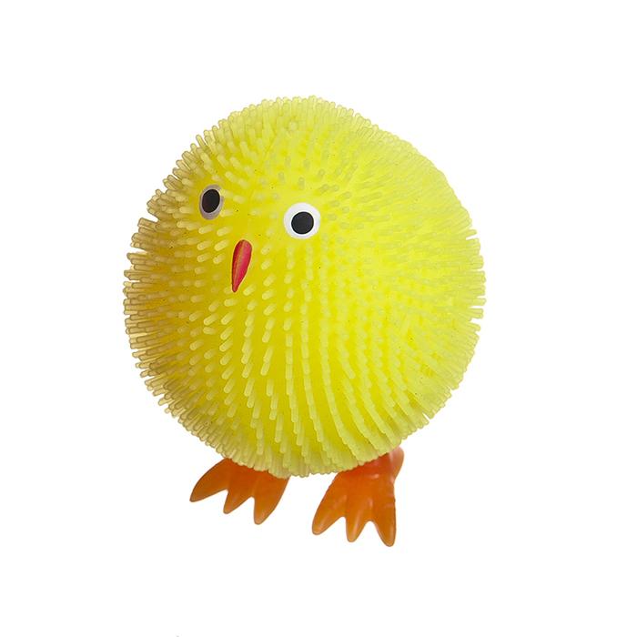 Декоративная фигурка с LED - подсветкой Home Queen Цыпленок, цвет: желтый68259Фигурка с LED - подсветкой Home Queen Цыпленок - это оригинальная игрушка для вашего малыша. Она пластичная, приятная на ощупь. Внутри игрушки шарик с LED лампочками. Если на цыпленка слегка надавить, он начнет светиться ярким светом. Фигурка с LED - подсветкой и мягкой пластичной структурой с ярким цветом станет прекрасным подарком как ребенку, так и взрослому. Размер фигурки: 6 см х 4 см х 5 см.