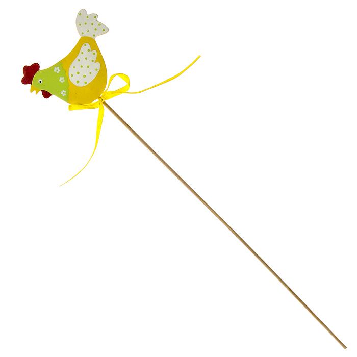 Декоративное пасхальное украшение на ножке Home Queen Солнечный петушок, высота 29 см. 6828268282Украшение пасхальное Home Queen Солнечный петушок изготовлено из дерева и предназначено для украшения праздничного стола. Украшение выполнено в виде петушка, декорированного текстильной лентой, на деревянной шпажке. Такое украшение прекрасно дополнит подарок для друзей и близких на Пасху. Высота: 29 см. Размер декоративной фигурки: 6,5 см х 0,5 см х 5 см.