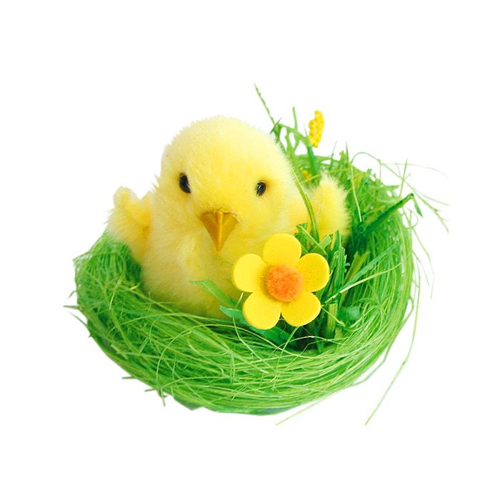 Декоративное украшение Home Queen Цыпленок в гнезде из травы, 8,5 х 8 х 5 см56383Декоративное украшение Home Queen Цыпленок в гнезде из травы изготовлено из сизаля, полиэстера и пластика. Украшение выполнено в виде птенчика в гнезде. Такое украшение прекрасно оформит интерьер дома или станет замечательным подарком для друзей и близких на Пасху.