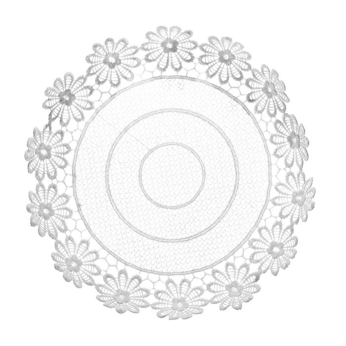 Тарелка декоративная Home Queen Ромашки, цвет: белый, диаметр 28,5 см64292Тарелка Home Queen Ромашки предназначена для украшения интерьера и сервировки стола. Изделие выполнено из полиэстера с красивым плетением по краям в виде цветочных узоров, имеет жесткую форму. Такая оригинальная тарелка станет ярким украшением стола. Идеальный вариант для хранения пасхальных яиц, хлеба или конфет. Диаметр тарелки: 28,5 см. Высота тарелки: 5 см.