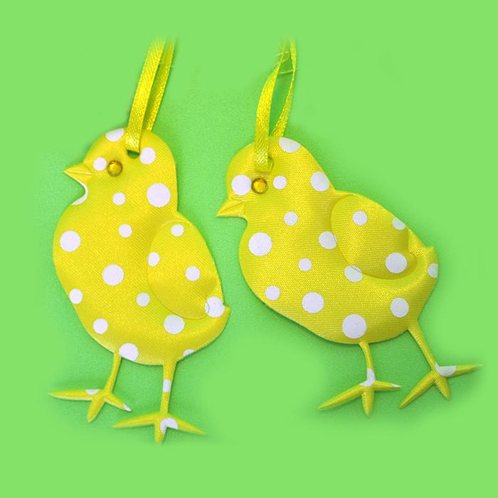 Набор декоративных подвесок, 3 шт, дизайны в ассортименте, желтые цыплята58234_2Набор декоративных подвесок, 3 шт, дизайны в ассортименте, желтые цыплята