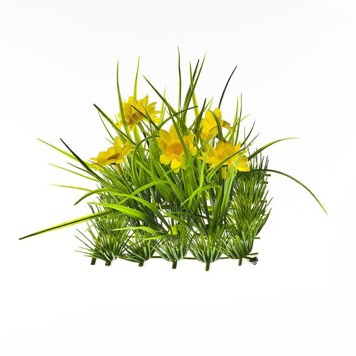 Декоративная композиция Home Queen Цветы в траве, цвет: желтый64484_1Декоративное композиция Home Queen Цветы в траве изготовлено из цветного пластика. Украшение выполнено в виде зеленой травы с цветами. Такая композиция прекрасно оформит интерьер дома или станет замечательным подарком для друзей и близких на Пасху.