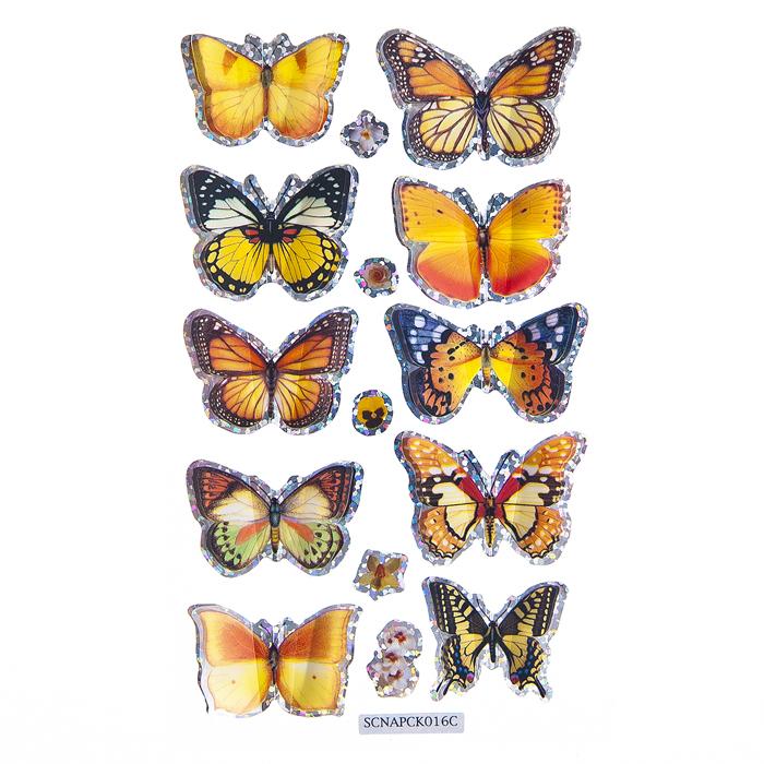 Набор объемных наклеек Home Queen Порхающие бабочки, цвет: оранжевый, 10 шт68230_2Набор объемных наклеек Home Queen Порхающие бабочки прекрасно подойдет для оформления творческих работ. Их можно использовать для скрапбукинга, украшения упаковок, подарков и конвертов, открыток, декорирования коллажей, фотографий, изделий ручной работы и предметов интерьера. Объемные наклейки выполнены из ПВХ. Задняя сторона клейкая. В наборе - 10 объемных наклеек бабочек и 5 небольших наклеек в форме цветов. Такой набор украшений создаст атмосферу праздника в вашем доме. Комплектация: 15 шт. Размер бабочки: 2 см х 3,5 см. Средний размер цветка: 0,7 см х 1 см.