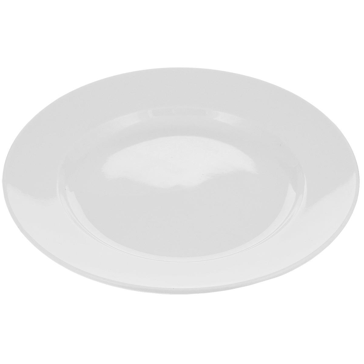 Тарелка Tescoma Opus, диаметр 27 см385114Тарелка Tescoma Opus выполнена из высококачественного фарфора однотонного цвета и прекрасно подойдет для вашей кухни. Такая тарелка изысканно украсит сервировку как обеденного, так и праздничного стола. Предназначена для подачи вторых блюд. Пригодна для использования в микроволновой печи. Можно мыть в посудомоечной машине. Диаметр: 27см. Высота тарелки: 2 см. .