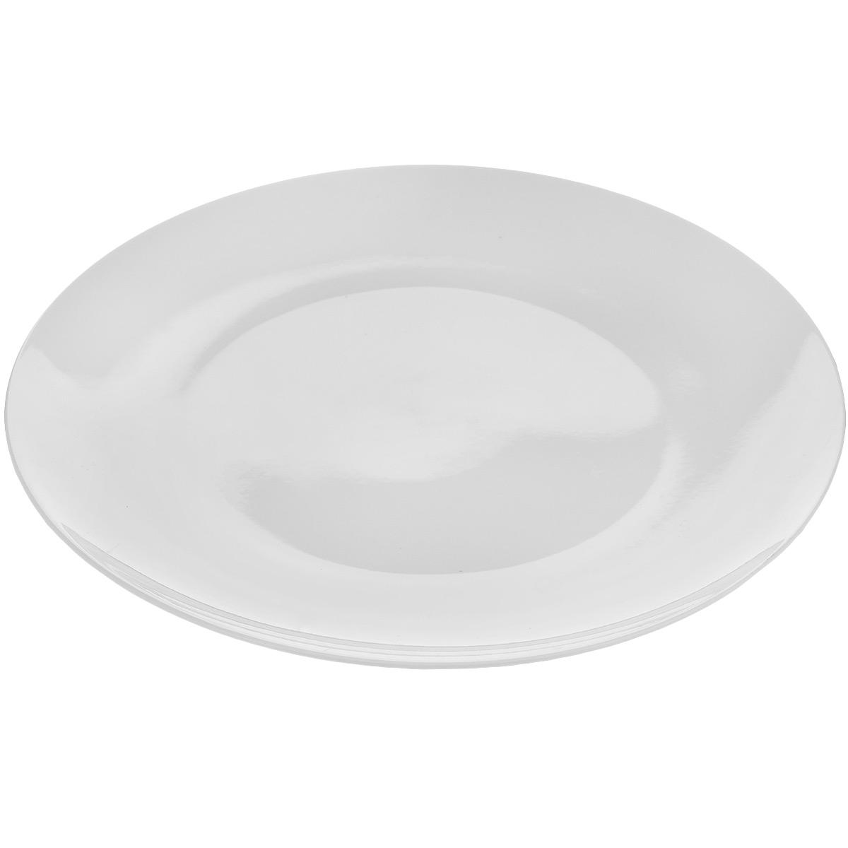 Тарелка Tescoma Crema, диаметр 27 см387024Тарелка Tescoma Crema выполнена из высококачественного фарфора однотонного цвета и прекрасно подойдет для вашей кухни. Такая тарелка изысканно украсит сервировку как обеденного, так и праздничного стола. Предназначена для подачи вторых блюд. Пригодна для использования в микроволновой печи. Можно мыть в посудомоечной машине. Диаметр: 27 см. Высота тарелки: 2,5 см.