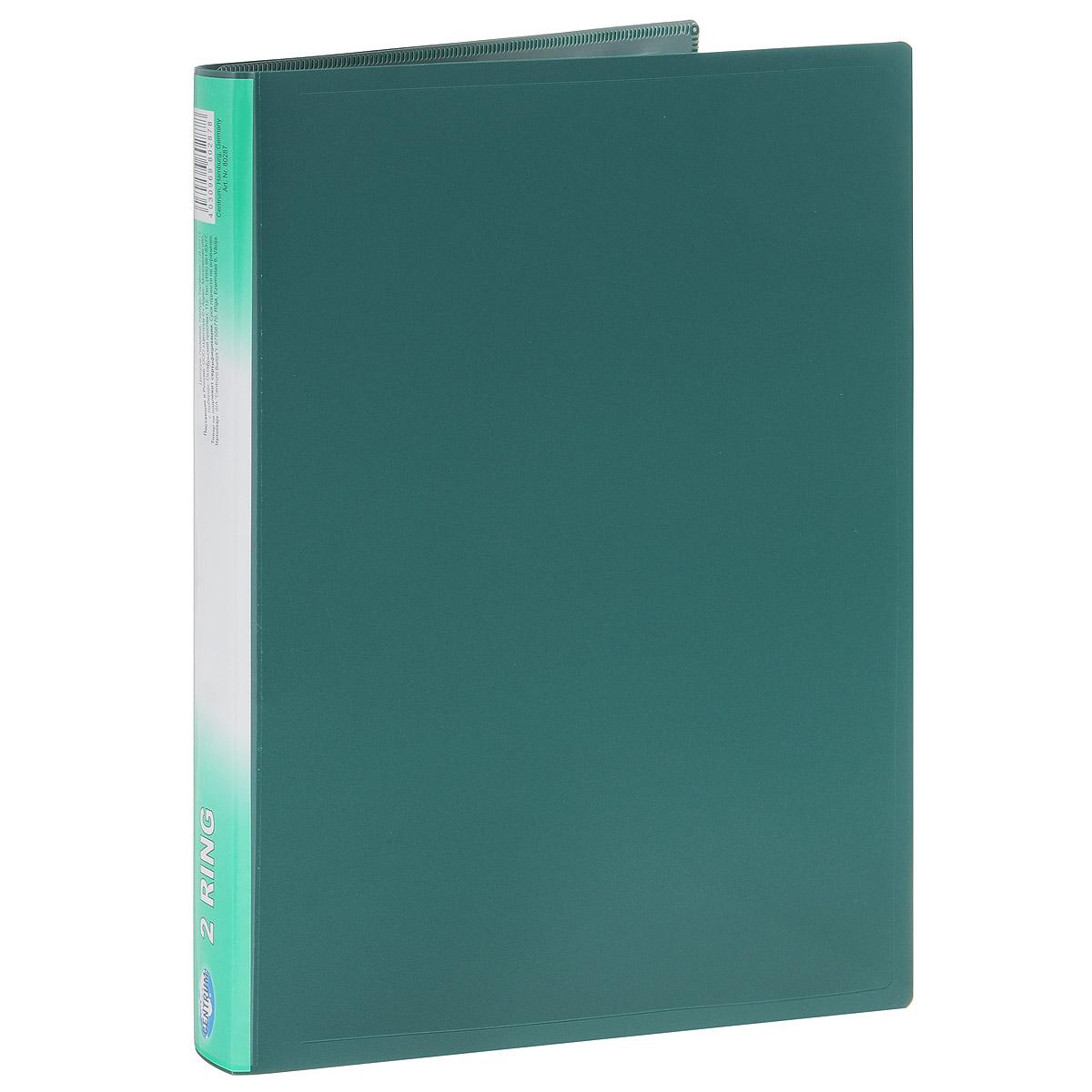 Centrum Папка на двух кольцах цвет зеленый 80287зеленый