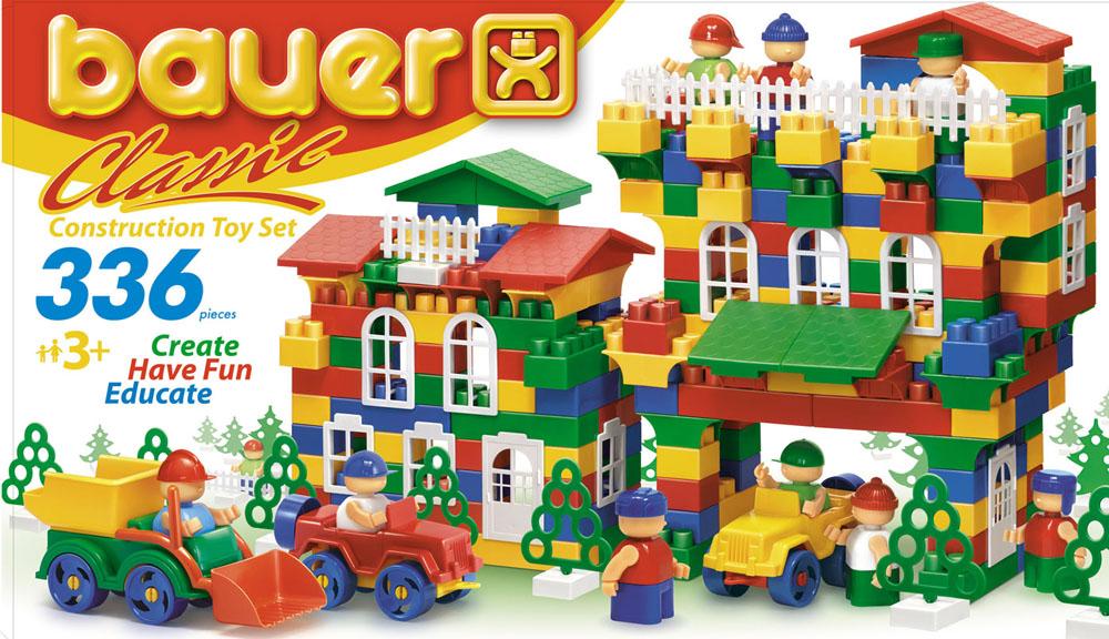 Bauer Конструктор Сlassic199Конструктор Bauer Сlassic содержит 336 ярких деталей разных форм, цветов и размеров для сборки различной сложности 2-х и 3-х мерных объектов. Конструктор прекрасно подходит для детского творчества и семейного отдыха, способствуют развитию объёмного мышления ребенка, фантазии, координации движения глаз, мелкой моторики и памяти. Все детали сделаны из высококачественного пластика с использованием пищевых красителей. Ребенок сможет часами играть с этим конструктором, придумывая разные истории и комбинируя детали. Конструктор Bauer Сlassic адаптирован к программам дошкольного образования, и может быть использован как индивидуально, так и в коллективе.