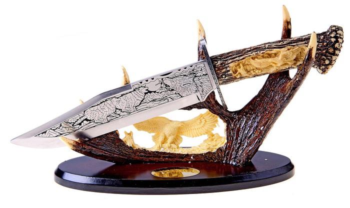 Сувенирное оружие Sima-land Нож на лосиных рогах