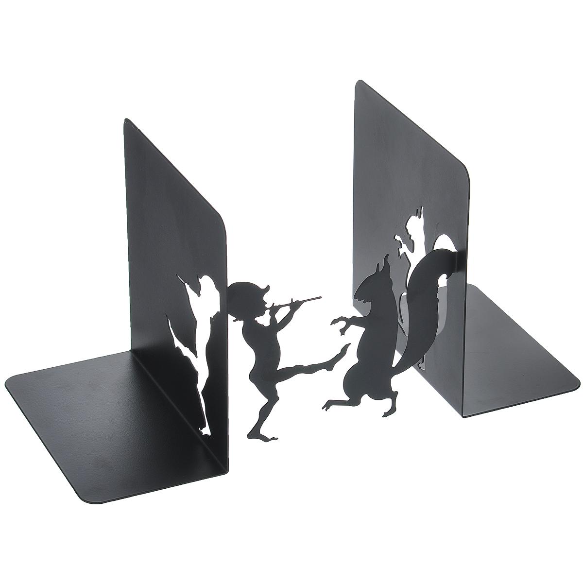 Подставка-ограничитель для книг Белка и мальчик, 2 шт36107Подставка-ограничитель для книг Белка и мальчик состоит из частей, выполненных из металла, с помощью которых можно подпирать книги с двух сторон. Изделия оформлены декоративными фигурками в виде мальчика и белки. Между подставками можно поместить неограниченное количество книг. Подставка-ограничитель для книг Белка и мальчик - это не только держатель для книг, но и интересный элемент декора, который ярко дополнит интерьер помещения. Размер одной части : 14 см х 15 см х 16 см. Комплектация: 2 шт.