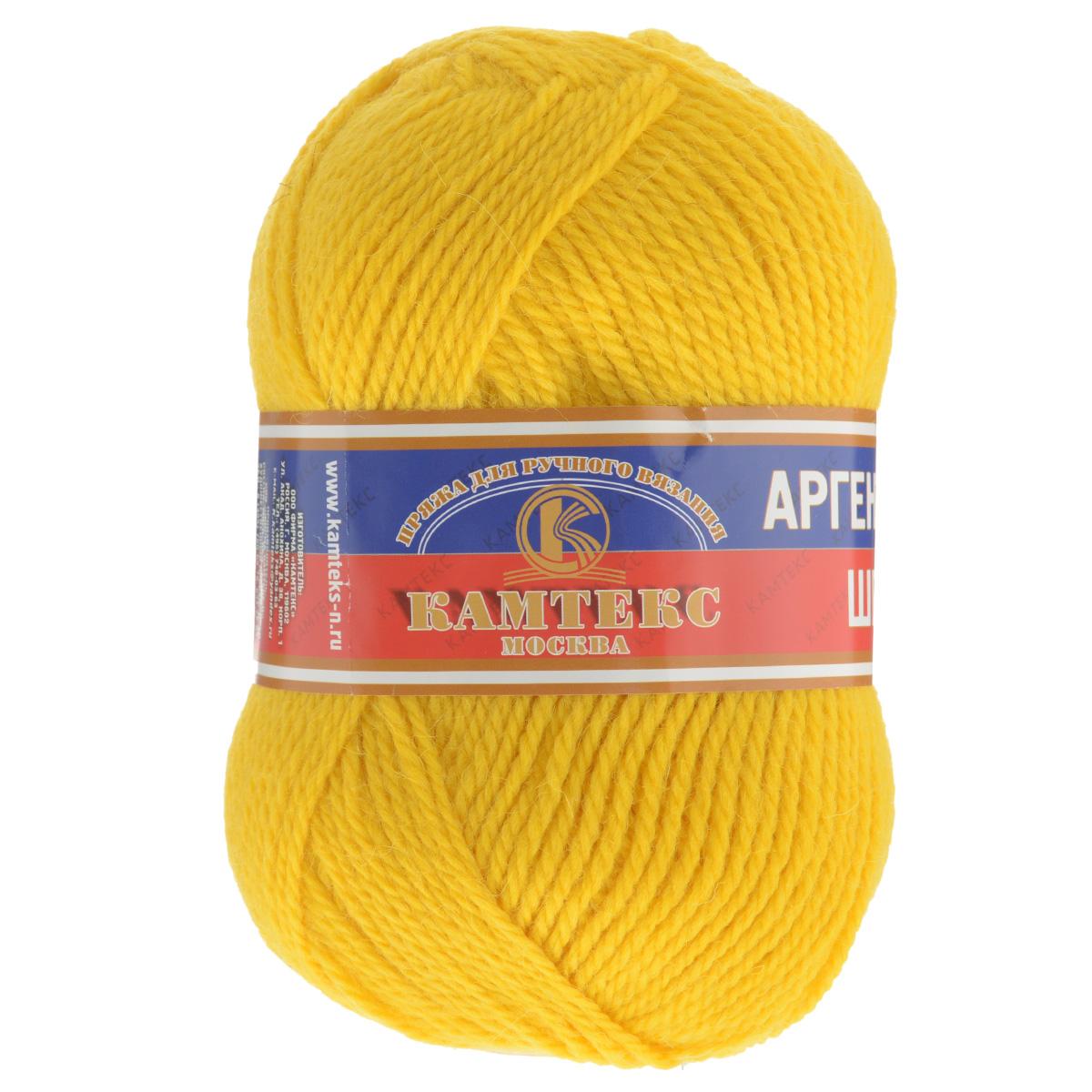 Пряжа для вязания Камтекс Аргентинская шерсть, цвет: желтый (104), 200 м, 100 г, 10 шт136071_104Пряжа для вязания Камтекс Аргентинская шерсть - это стопроцентная импортная шерсть, которая отличается прочностью и гладкостью. Даже при взгляде на моток, сразу видно, что вещи из этой пряжи будут выглядеть дорого. Изделия не скатываются и не деформируются. Пряжа очень легка в работе, даже при роспуске полотна, она не цепляется, и не путается. Ниточка безумно теплая и уютная, отлично подходит для нашей морозной зимы. Даже ажурные шапки и шарфы при всей своей тонкости будут самыми надежными защитниками от снега и сильного ветра. Очень хорошо смотрятся из этой шерсти узоры из кос и жгутов. Рекомендуются спицы и крючки для вязания 3-5 мм. Состав: 100% шерсть.