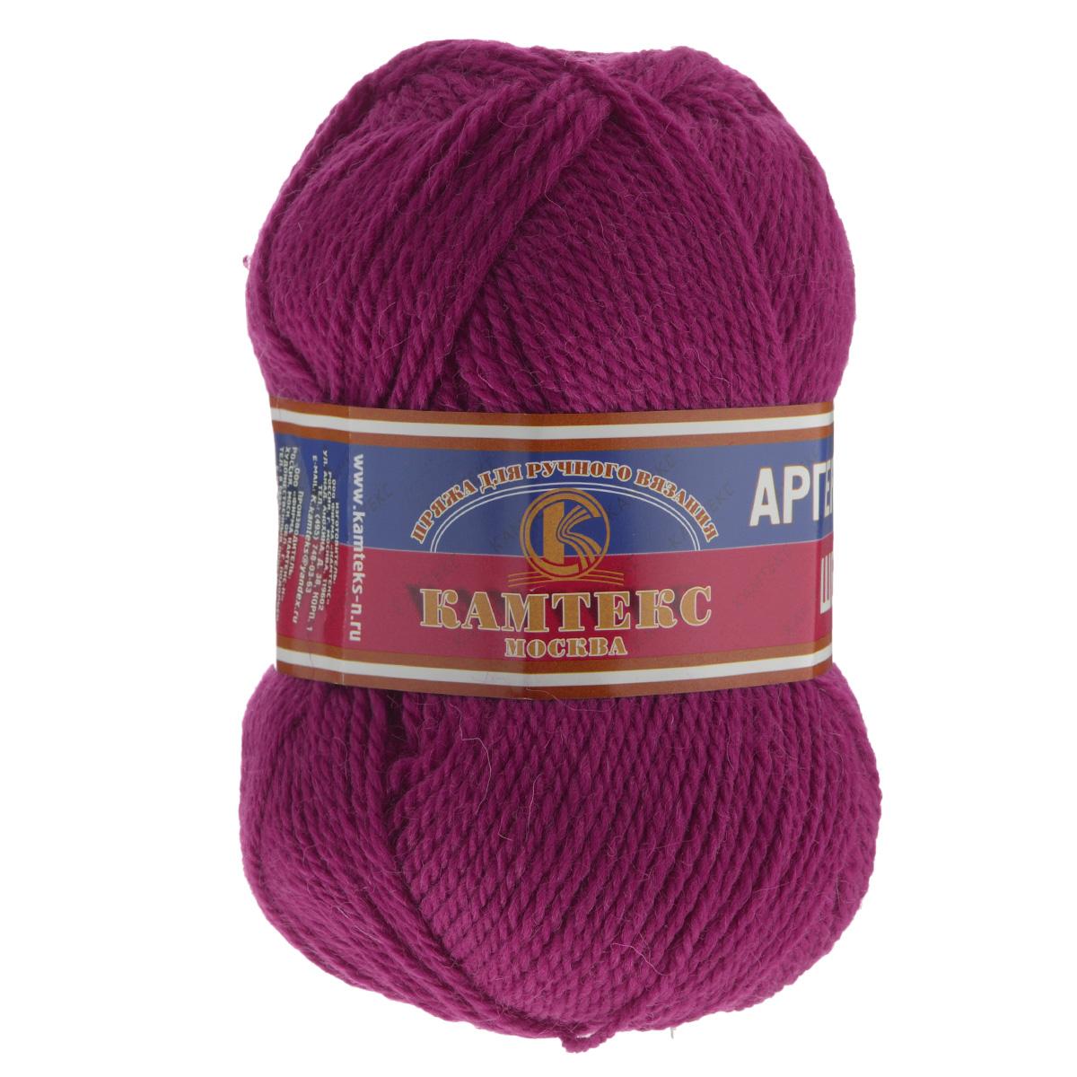 Пряжа для вязания Камтекс Аргентинская шерсть, цвет: цикломен (191), 200 м, 100 г, 10 шт136071_191Пряжа для вязания Камтекс Аргентинская шерсть - это стопроцентная импортная шерсть, которая отличается прочностью и гладкостью. Даже при взгляде на моток, сразу видно, что вещи из этой пряжи будут выглядеть дорого. Изделия не скатываются и не деформируются. Пряжа очень легка в работе, даже при роспуске полотна, она не цепляется, и не путается. Ниточка безумно теплая и уютная, отлично подходит для нашей морозной зимы. Даже ажурные шапки и шарфы при всей своей тонкости будут самыми надежными защитниками от снега и сильного ветра. Очень хорошо смотрятся из этой шерсти узоры из кос и жгутов. Рекомендуются спицы и крючки для вязания 3-5 мм. Состав: 100% шерсть.