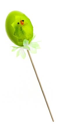 Декоративное пасхальное украшение на ножке Home Queen Радужные скорлупки, цвет: зеленый, высота 17 см66790_1Украшение пасхальное Home Queen Радужные скорлупки изготовлено из пластика и полиэстера и предназначено для украшения праздничного стола. Украшение выполнено в виде птенца в скорлупе на деревянной шпажке. Такое украшение прекрасно дополнит подарок для друзей и близких на Пасху. Высота: 17 см. Размер декоративной фигурки: 3 см х 3 см х 4 см.