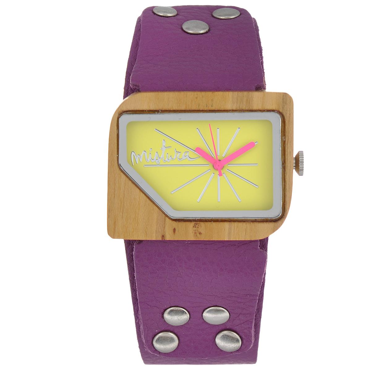 "Часы наручные женские Mistura ""Pellicano: Orchid Teak Yellow Neon"". TP09004ODTKYLWD ( TP09004ODTKYLWD )"
