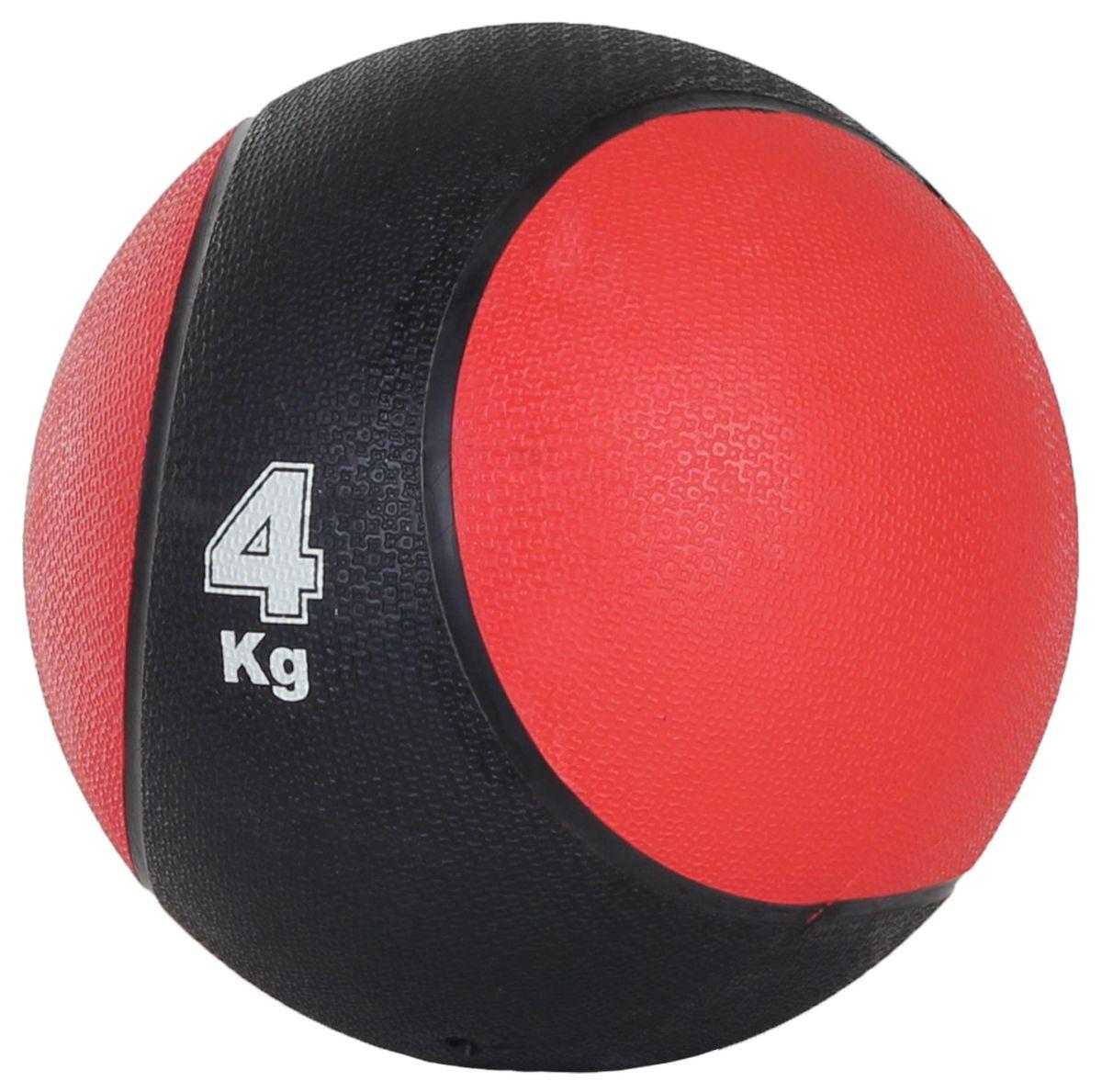 Медицинбол Start Up MBR4, цвет: черный, красный, 4 кг, 22 см290261Медицинбол Start Up MBR4 - тренировочный мяч, который прекрасно подходит для занятий фитнесом, аэробикой или ЛФК (лечебной физкультурой). Шероховатая поверхность не дает ему выскользнуть из рук. Предназначен для укрепления мышц плечевого пояса, спины, рук и ног. Мяч выполнен из резины, наполнен также резиной.