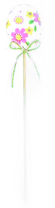 Декоративное пасхальное украшение на ножке Home Queen Яйцо, цвет: розовый, высота 25,5 см60731_4Украшение пасхальное Home Queen Яйцо изготовлено из высококачественного полиэстера и предназначено для украшения праздничного стола. Украшение выполнено в виде яйца на деревянной шпажке и украшено бантом. Такое украшение прекрасно дополнит подарок для друзей и близких на Пасху. Высота: 25,5 см. Размер фигурки: 4,5 см х 1 см х 6 см.
