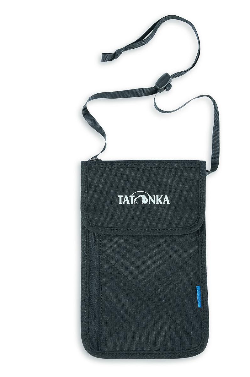 Кошелек Tatonka Neck Wallet, цвет: черный. 2977.0402977.040Вместительный кошелек Tatonka Neck Wallet выполнен из плотного полиэстера и оформлен декоративной прострочкой и названием бренда на лицевой стороне. Кошелек закрывается клапаном на застежку-липучку. Внутри - вместительное отделение для купюр или бумаг. На передней стенке изделия расположены два врезных кармана на застежках-молниях. Кошелек дополнен ремешком для крепления изделия на пояс. Многофункциональный кошелек займет достойное место среди ваших аксессуаров.