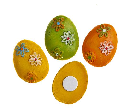 Набор декоративных украшений для яиц Home Queen Яйца, на клейкой основе, 9 шт66849_1Набор Home Queen Яйца состоит из 9 декоративных элементов и предназначен для украшения яиц, посуды, стекла, керамики, металла, цветочных горшков, ваз и других предметов интерьера. Украшения изготовлены из высококачественной полирезины в виде пасхальных яиц, декорированных цветочным узором, и фиксируются при помощи специальной клейкой основы. Такой набор украшений создаст атмосферу праздника в вашем доме. Размер фигурки: 2 см х 0,4 см х 2,5 см.