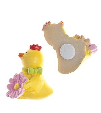 Набор декоративных украшений для яиц Home Queen Птенчик с цветком, на клейкой основе, цвет: сиреневый, 6 шт66851_2цветокНабор Home Queen Птенчик с цветком состоит из 6 декоративных элементов и предназначен для украшения яиц, посуды, стекла, керамики, металла, цветочных горшков, ваз и других предметов интерьера. Украшения изготовлены из высококачественной полирезины в виде птенцов с цветами и фиксируются при помощи специальной клейкой основы. Такой набор украшений создаст атмосферу праздника в вашем доме. Размер фигурки: 2 см х 1 см х 3 см.