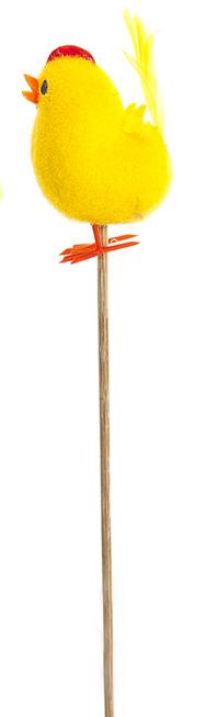Декоративное пасхальное украшение на ножке Home Queen Милашка, цвет: желтый, высота 17 см. 6678866788Украшение пасхальное Home Queen Милашка изготовлено из пластика и полиэстера и предназначено для украшения праздничного стола. Украшение выполнено в виде милого цыпленка на деревянной шпажке. Такое украшение прекрасно дополнит подарок для друзей и близких на Пасху. Высота: 17 см. Размер декоративной фигурки: 3,5 см х 2 см х 4,5 см.