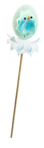 Декоративное пасхальное украшение на ножке Home Queen Радужная пташка, цвет: голубой, высота 18 см66791_3Украшение пасхальное Home Queen Радужная пташка изготовлено из пластика и полиэстера и предназначено для украшения праздничного стола. Украшение выполнено в виде цыпленка, сидящего в скорлупке, на деревянной шпажке. Такое украшение прекрасно дополнит подарок для друзей и близких на Пасху. Высота: 18 см. Размер декоративной фигурки: 4 см х 4 см х 5 см.