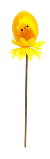 Декоративное пасхальное украшение на ножке Home Queen Радужная пташка, цвет: оранжевый, высота 18 см66791_4Украшение пасхальное Home Queen Радужная пташка изготовлено из пластика и полиэстера и предназначено для украшения праздничного стола. Украшение выполнено в виде цыпленка, сидящего в скорлупке, на деревянной шпажке. Такое украшение прекрасно дополнит подарок для друзей и близких на Пасху. Высота: 18 см. Размер декоративной фигурки: 4 см х 4 см х 5 см.