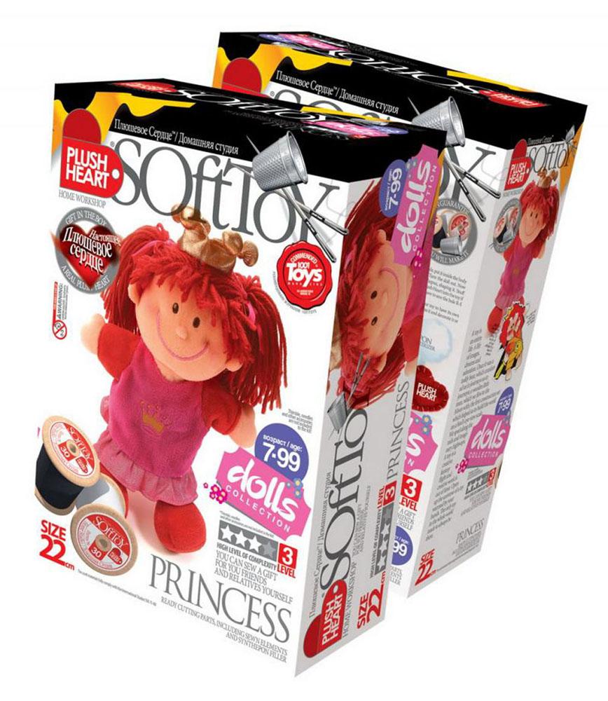 Набор для создания мягкой игрушки Принцесса457046Набор для создания мягкой игрушки Принцесса поможет малышу познакомиться с основами шитья и своими руками создать очаровательную плюшевую игрушку. В комплект набора входит: пошитая голова игрушки, 2 руки, 2 ноги, детали туловища, Принц, синтепоновая набивка, капроновый мешочек с полигранулами, одежда, корона, плюшевое сердце. Несложный процесс шитья принесет ребенку удовольствие, поможет развить мелкую моторику, творческое мышление и воображение, а самодельная игрушка станет предметом гордости и надежным другом. Мягкие игрушки являются одними из первых близких друзей ребенка и часто становятся талисманами на всю жизнь! Уважаемые клиенты! Обращаем ваше внимание, что наперсток и иглы в набор не входят.