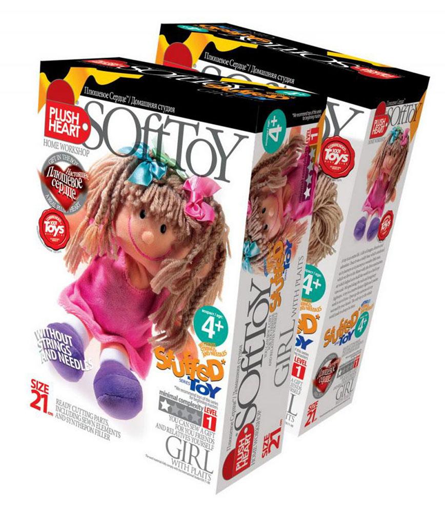 Набор для создания мягкой игрушки Девочка с косичками457052Набор для создания мягкой игрушки Девочка с косичками поможет малышу познакомиться с основами шитья и своими руками создать очаровательную плюшевую игрушку. В комплект набора входит: пошитая голова игрушки, 2 руки, 2 ноги, детали туловища, синтепоновая набивка, капроновый мешочек с полигранулами, плюшевое сердце. Несложный процесс шитья принесет ребенку удовольствие, поможет развить мелкую моторику, творческое мышление и воображение, а самодельная игрушка станет предметом гордости и надежным другом. Мягкие игрушки являются одними из первых близких друзей ребенка и часто становятся талисманами на всю жизнь! Уважаемые клиенты! Обращаем ваше внимание, что наперсток и иглы в набор не входят.
