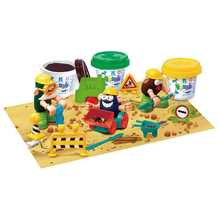 Playgo Набор для лепки Under ConstructionPlay 8672Набор для лепки Playgo Under Construction представляет собой сочетание моделирования и игры. Набор включает в себя: 3 баночки массы для лепки по 56 г (желтый, зеленый, коричневый), стек для моделирования, набор знаков, набор пластиковых частей и аксессуаров для создания игрушек, машинка, игровая фоновая сцена. Входящая в набор пластилиновая масса разработана специально для детей, очень мягкая, приятно пахнет, ее не надо разминать перед лепкой. Пластилин быстро высыхает, не имеет запаха, не липнет к рукам и одежде, легко смывается, а так же легко смешивается, что позволяет получать новые цвета. На крышечках баночек имеются трафареты с помощью которых ваш ребенок сможет легко самостоятельно сделать фигурку. Стек выполнен из пластика и не имеет острых концов, что безопасно для вашего малыша. С его помощью он сможет легко и быстро разрезать массу. Набор пластиковых частей и аксессуаров для создания игрушек и игровая фоновая сцена помогут создать и оживить фигурки. ...