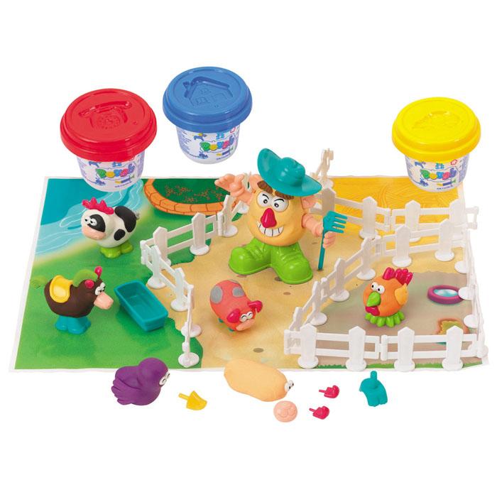 Playgo Набор для лепки Fermer & FriendsPlay 8654Набор для лепки Playgo Fermer & Friends представляет собой сочетание моделирования и игры. Набор включает в себя: 3 баночки массы для лепки по 56 г (красный, желтый, синий), набор для создания забора, набор пластиковых частей и аксессуаров для создания игрушек, игровая фоновая сцена. Входящая в набор пластилиновая масса разработана специально для детей, очень мягкая, приятно пахнет, ее не надо разминать перед лепкой. Пластилин быстро высыхает, не имеет запаха, не липнет к рукам и одежде, легко смывается, а так же легко смешивается, что позволяет получать новые цвета. На крышечках баночек имеются трафареты с помощью которых ваш ребенок сможет легко самостоятельно сделать фигурку. Набор пластиковых частей и аксессуаров для создания игрушек, набор для создания забора и игровая фоновая сцена помогут создать и оживить фигурки. Работа с пластилином развивает мелкую моторику пальцев малыша, пространственное воображение, фантазию.