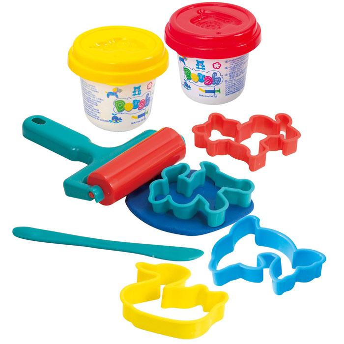 Playgo Набор для лепки Roll & CutPlay 8632Набор для лепки Playgo Roll & Cut представляет собой сочетание моделирования и игры. Набор включает в себя: 2 баночки массы для лепки по 56 г (желтый, красный), стек для моделирования, 4 формочки, валик. Входящая в набор пластилиновая масса разработана специально для детей, очень мягкая, приятно пахнет, ее не надо разминать перед лепкой. Пластилин быстро высыхает, не имеет запаха, не липнет к рукам и одежде, легко смывается, а так же легко смешивается, что позволяет получать новые цвета. На крышечках баночек имеются трафареты с помощью которых ваш ребенок сможет легко самостоятельно сделать фигурку. Стек выполнен из пластика и не имеет острых концов, что безопасно для вашего малыша. С его помощью он сможет легко и быстро разрезать массу. Формочки и валик помогут вашему ребенку создать фигурки различных животных. При помощи этого набора ваш ребенок сможет своими руками изготовить красивые поделки. Работа с пластилином развивает мелкую моторику пальцев малыша,...