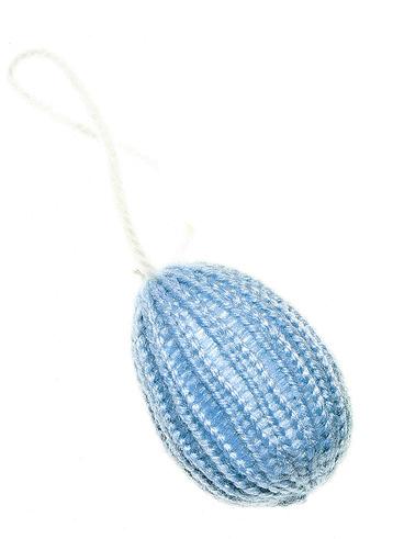 Пасхальное подвесное украшение Home Queen Яйцо, цвет: голубой64418_3Подвесное пасхальное украшение Home Queen Яйцо изготовлено из пенопласта и шерсти. Изделие выполнено в виде вязаного пасхального яйца и оснащено текстильной петелькой для подвешивания. Такое украшение прекрасно дополнит оформление вашего дома на Пасху.