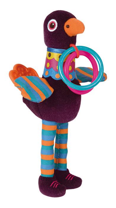 Игрушка развивающая OOPS ПавлинO 11007.00Развивающая игрушка OOPS Павлин изготовлена из высококачественного текстиля и пластика безопасного для детей. Игрушка выполнена в виде забавного яркого павлина с прорезывателем на хвосте и двумя пластиковыми кольцами на шее, за которые малыш может держаться. Прорезыватель поможет вашему малышу массажировать небо и десна, а игрушка отвлечет внимание ребенка. Нежная на ощупь поверхность и новые приятные цвета развивают органы чувств вашего малыша. Игрушка снабжена шуршащими крыльями и гремящими шариками внутри, что непременно понравится ребенку. Развивающая игрушка OOPS Павлин способствует развитию мелкой моторики и зрительно-цветовому восприятию.
