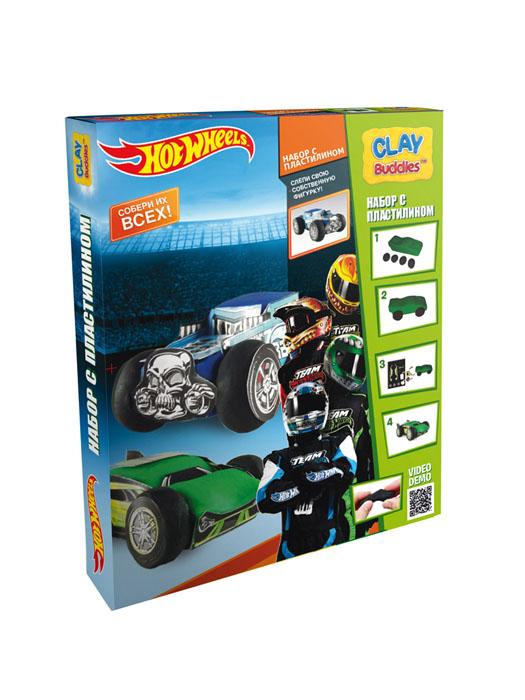 Giromax Набор для лепки Hot WheelsG 307601Набор для лепки Giromax Hot Wheels представляет собой сочетание моделирования и игры. Набор включает в себя: 6 плиток пластилина (зеленый, черный, синий), игровая фоновая сцена, 2 карточки с картонными деталями, 2 листа липучек, иллюстрированная книжка с инструкциями и заданиями. Входящая в набор пластилиновая масса разработана специально для детей, очень мягкая, приятно пахнет, ее не надо разминать перед лепкой. Пластилин быстро высыхает, не имеет запаха, не липнет к рукам и одежде, легко смывается. Используя пластилин и картонные формочки, малыш сможет самостоятельно вылепить фигурки любимых героев, а с помощью игровой фоновой сцены созданные игрушки оживут. Работа с пластилином развивает мелкую моторику пальцев малыша, пространственное воображение, фантазию.