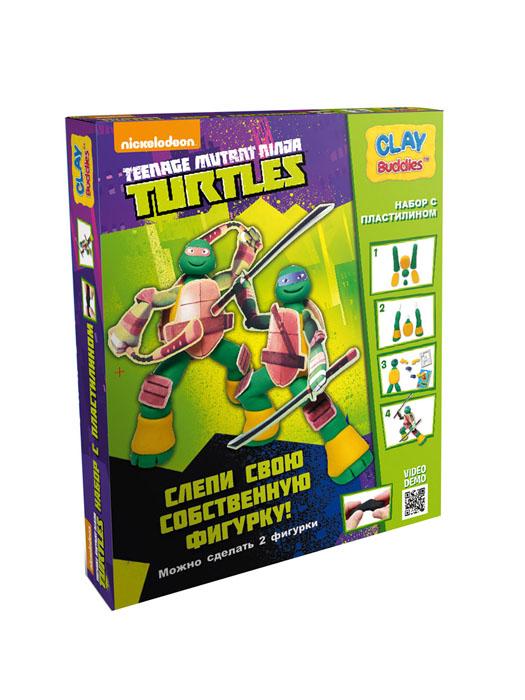 Giromax Набор для лепки Teenage Mutant Ninja TurtlesG 305164Набор для лепки Giromax Teenage Mutant Ninja Turtles представляет собой сочетание моделирования и игры. Набор включает в себя: 6 плиток пластилина (зеленый, желтый), игровая фоновая сцена, 2 карточки с картонными деталями, 2 листа липучек, иллюстрированная книжка с инструкциями и заданиями. Входящая в набор пластилиновая масса разработана специально для детей, очень мягкая, приятно пахнет, ее не надо разминать перед лепкой. Пластилин быстро высыхает, не имеет запаха, не липнет к рукам и одежде, легко смывается. Используя пластилин и картонные формочки, малыш сможет самостоятельно вылепить фигурки любимых героев - Леонардо и Микеланджело, а с помощью игровой фоновой сцены созданные игрушки оживут. Работа с пластилином развивает мелкую моторику пальцев малыша, пространственное воображение, фантазию.